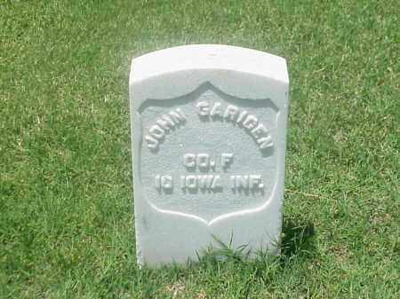 GARIGEN (VETERAN UNION), JOHN - Pulaski County, Arkansas | JOHN GARIGEN (VETERAN UNION) - Arkansas Gravestone Photos