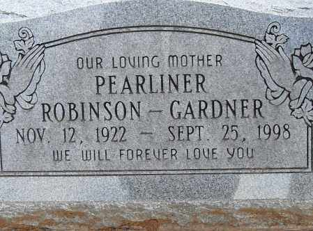GARNER, PEARLINER - Pulaski County, Arkansas | PEARLINER GARNER - Arkansas Gravestone Photos