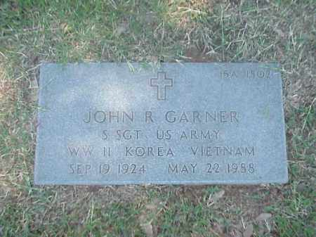 GARNER (VETERAN 3 WARS), JOHN R - Pulaski County, Arkansas | JOHN R GARNER (VETERAN 3 WARS) - Arkansas Gravestone Photos