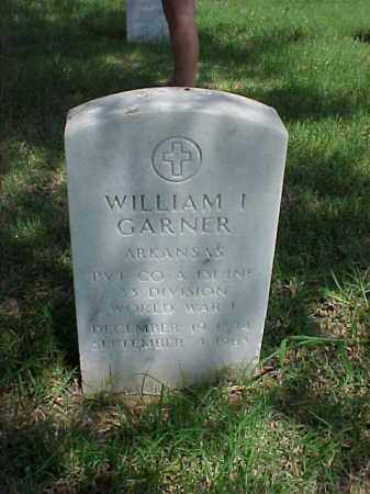 GARNER (VETERAN WWI), WILLIAM I - Pulaski County, Arkansas | WILLIAM I GARNER (VETERAN WWI) - Arkansas Gravestone Photos