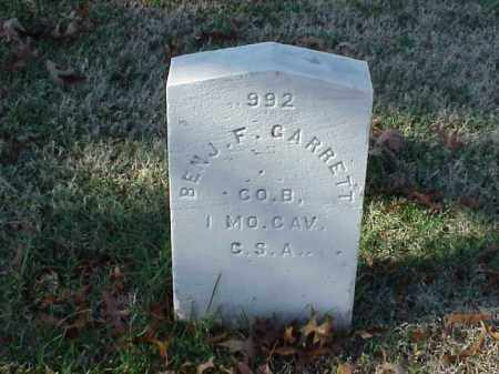 GARRETT (VETERAN CSA), BENJAMIN F - Pulaski County, Arkansas | BENJAMIN F GARRETT (VETERAN CSA) - Arkansas Gravestone Photos