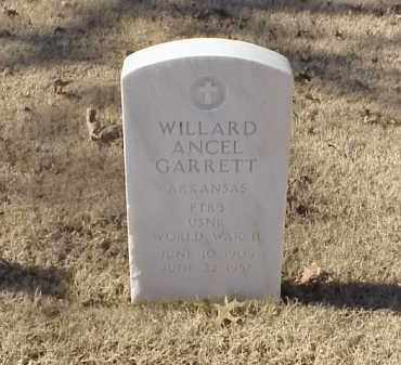 GARRETT (VETERAN WWII), WILLARD ANCEL - Pulaski County, Arkansas | WILLARD ANCEL GARRETT (VETERAN WWII) - Arkansas Gravestone Photos