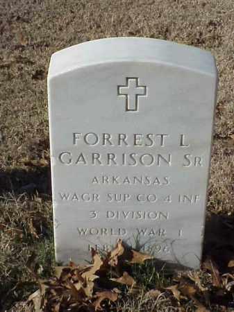 GARRISON, SR (VETERAN WWI), FORREST L - Pulaski County, Arkansas | FORREST L GARRISON, SR (VETERAN WWI) - Arkansas Gravestone Photos