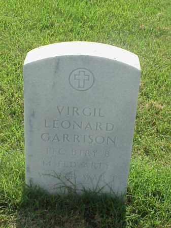 GARRISON (VETERAN WWI), VIRGIL LEONARD - Pulaski County, Arkansas | VIRGIL LEONARD GARRISON (VETERAN WWI) - Arkansas Gravestone Photos