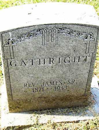 GATHRIGHT, SR (REV), JAMES - Pulaski County, Arkansas | JAMES GATHRIGHT, SR (REV) - Arkansas Gravestone Photos