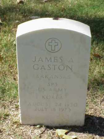GASTON (VETERAN KOR), JAMES A - Pulaski County, Arkansas | JAMES A GASTON (VETERAN KOR) - Arkansas Gravestone Photos