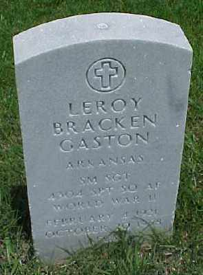 GASTON (VETERAN WWII), LEROY BRACKEN - Pulaski County, Arkansas | LEROY BRACKEN GASTON (VETERAN WWII) - Arkansas Gravestone Photos