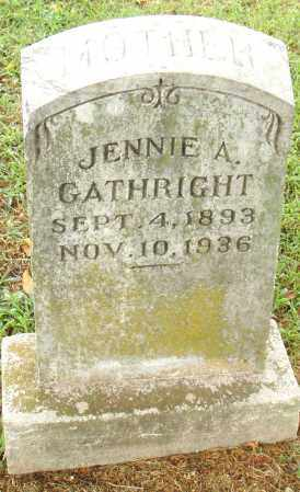 GATHRIGHT, JENNIE A. - Pulaski County, Arkansas | JENNIE A. GATHRIGHT - Arkansas Gravestone Photos