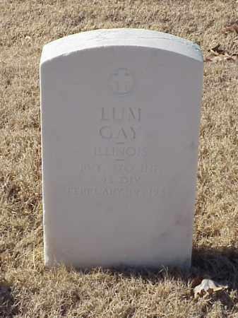 GAY (VETERAN WWI), LUM - Pulaski County, Arkansas | LUM GAY (VETERAN WWI) - Arkansas Gravestone Photos