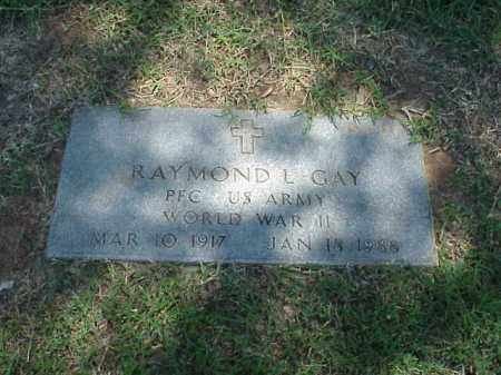 GAY (VETERAN WWII), RAYMOND L - Pulaski County, Arkansas | RAYMOND L GAY (VETERAN WWII) - Arkansas Gravestone Photos