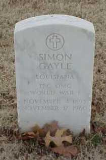 GAYLE  (VETERAN WWI), SIMON - Pulaski County, Arkansas | SIMON GAYLE  (VETERAN WWI) - Arkansas Gravestone Photos