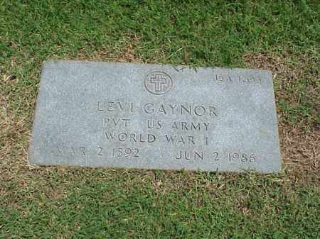 GAYNOR (VETERAN WWI), LEVI - Pulaski County, Arkansas | LEVI GAYNOR (VETERAN WWI) - Arkansas Gravestone Photos