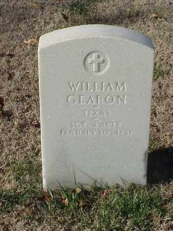 GEARON (VETERAN UNION), WILLIAM - Pulaski County, Arkansas | WILLIAM GEARON (VETERAN UNION) - Arkansas Gravestone Photos