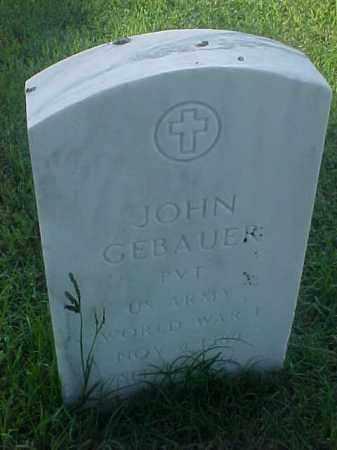 GEBAUER (VETERAN WWI), JOHN - Pulaski County, Arkansas | JOHN GEBAUER (VETERAN WWI) - Arkansas Gravestone Photos