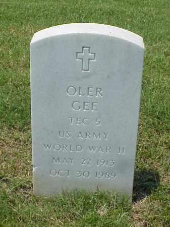 GEE (VETERAN WWII), OLER - Pulaski County, Arkansas | OLER GEE (VETERAN WWII) - Arkansas Gravestone Photos