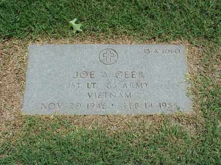 GEER (VETERAN VIET), JOE A - Pulaski County, Arkansas | JOE A GEER (VETERAN VIET) - Arkansas Gravestone Photos