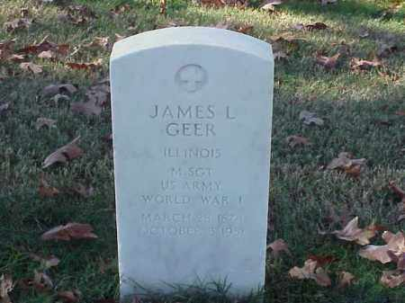 GEER (VETERAN WWI), JAMES L - Pulaski County, Arkansas | JAMES L GEER (VETERAN WWI) - Arkansas Gravestone Photos
