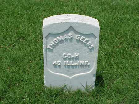 GEERS (VETERAN UNION), THOMAS - Pulaski County, Arkansas | THOMAS GEERS (VETERAN UNION) - Arkansas Gravestone Photos