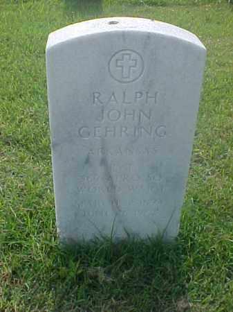 GEHRING (VETERAN WWI), RALPH JOHN - Pulaski County, Arkansas | RALPH JOHN GEHRING (VETERAN WWI) - Arkansas Gravestone Photos