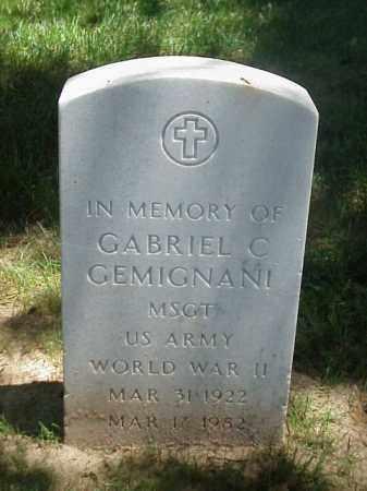 GEMIGNANI (VETERAN WWII), GABRIEL C - Pulaski County, Arkansas | GABRIEL C GEMIGNANI (VETERAN WWII) - Arkansas Gravestone Photos