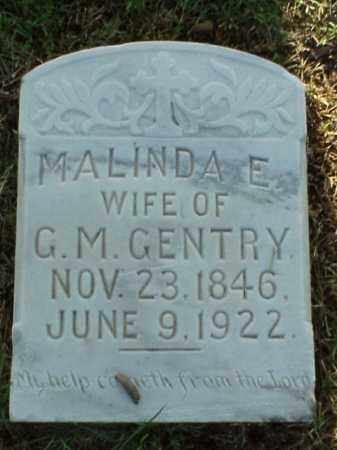 GENTRY, MALINDA E - Pulaski County, Arkansas | MALINDA E GENTRY - Arkansas Gravestone Photos