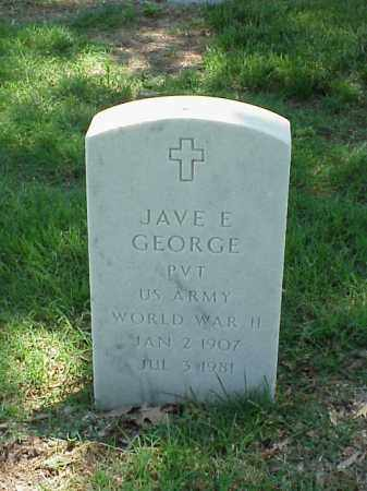 GEORGE (VETERAN WWII), JAVE E - Pulaski County, Arkansas | JAVE E GEORGE (VETERAN WWII) - Arkansas Gravestone Photos