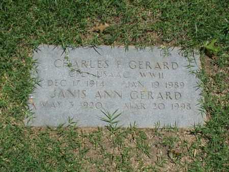 GERARD (VETERAN WWII), CHARLES F - Pulaski County, Arkansas | CHARLES F GERARD (VETERAN WWII) - Arkansas Gravestone Photos