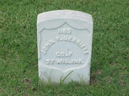 GERRIETS (VETERAN UNION), JOHN F - Pulaski County, Arkansas | JOHN F GERRIETS (VETERAN UNION) - Arkansas Gravestone Photos