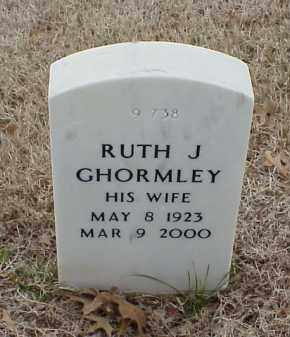 GHORMLY, RUTH J - Pulaski County, Arkansas | RUTH J GHORMLY - Arkansas Gravestone Photos
