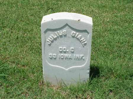 GIAHL (VETERAN UNION), JULIUS - Pulaski County, Arkansas   JULIUS GIAHL (VETERAN UNION) - Arkansas Gravestone Photos