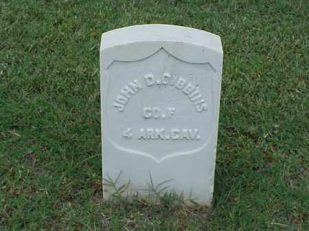 GIBBINS (VETERAN UNION), JOHN D - Pulaski County, Arkansas | JOHN D GIBBINS (VETERAN UNION) - Arkansas Gravestone Photos