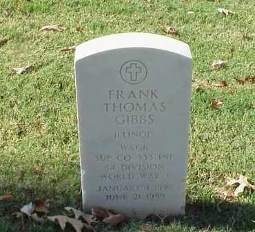 GIBBS (VETERAN WWI), FRANK THOMAS - Pulaski County, Arkansas | FRANK THOMAS GIBBS (VETERAN WWI) - Arkansas Gravestone Photos