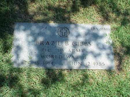 GIBBS (VETERAN WWII), BRAZIL B - Pulaski County, Arkansas | BRAZIL B GIBBS (VETERAN WWII) - Arkansas Gravestone Photos