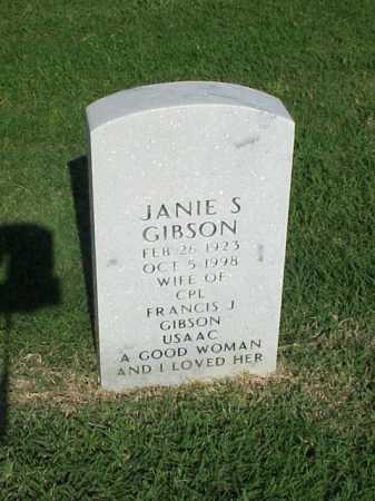 GIBSON, JANIE S - Pulaski County, Arkansas | JANIE S GIBSON - Arkansas Gravestone Photos
