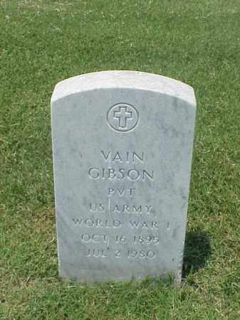 GIBSON (VETERAN WWI), VAIN - Pulaski County, Arkansas | VAIN GIBSON (VETERAN WWI) - Arkansas Gravestone Photos