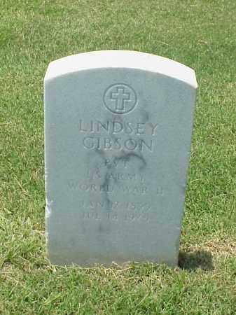 GIBSON (VETERAN WWII), LINDSEY - Pulaski County, Arkansas | LINDSEY GIBSON (VETERAN WWII) - Arkansas Gravestone Photos