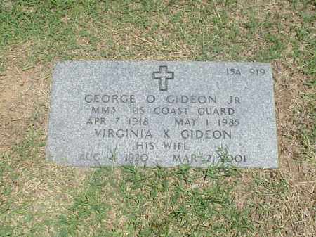 GIDEON, VIRGINIA K - Pulaski County, Arkansas | VIRGINIA K GIDEON - Arkansas Gravestone Photos