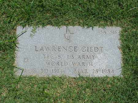 GIEDT (VETERAN WWII), LAWRENCE - Pulaski County, Arkansas | LAWRENCE GIEDT (VETERAN WWII) - Arkansas Gravestone Photos