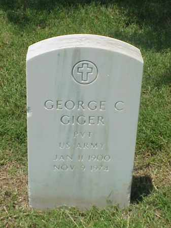 GIGER (VETERAN WWII), GEORGE C - Pulaski County, Arkansas | GEORGE C GIGER (VETERAN WWII) - Arkansas Gravestone Photos