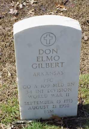 GILBERT  (VETERAN WWII), DON ELMO - Pulaski County, Arkansas | DON ELMO GILBERT  (VETERAN WWII) - Arkansas Gravestone Photos