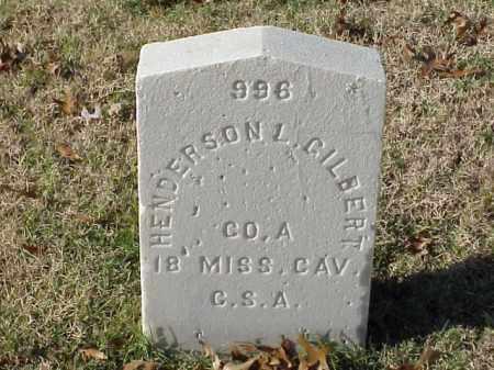GILBERT (VETERAN CSA), HENDERSON L - Pulaski County, Arkansas | HENDERSON L GILBERT (VETERAN CSA) - Arkansas Gravestone Photos