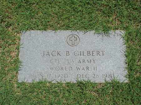 GILBERT (VETERAN WWII), JACK B - Pulaski County, Arkansas | JACK B GILBERT (VETERAN WWII) - Arkansas Gravestone Photos