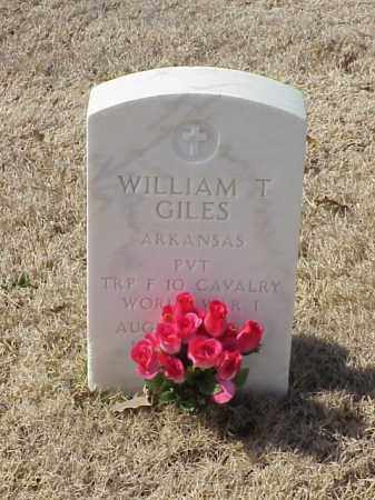 GILES (VETERAN WWI), WILLIAM T - Pulaski County, Arkansas | WILLIAM T GILES (VETERAN WWI) - Arkansas Gravestone Photos