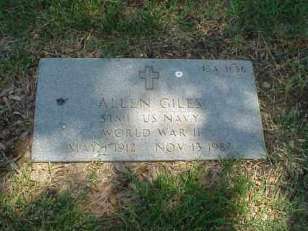 GILES (VETERAN WWII), ALLEN - Pulaski County, Arkansas | ALLEN GILES (VETERAN WWII) - Arkansas Gravestone Photos
