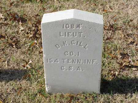 GILL (VETERAN CSA), D K - Pulaski County, Arkansas | D K GILL (VETERAN CSA) - Arkansas Gravestone Photos