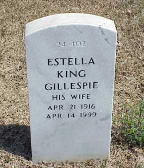 GILLESPIE, ESTELLA KING - Pulaski County, Arkansas | ESTELLA KING GILLESPIE - Arkansas Gravestone Photos