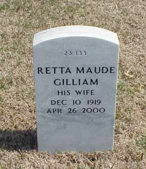 GILLIAM, RETTA MAUDE - Pulaski County, Arkansas | RETTA MAUDE GILLIAM - Arkansas Gravestone Photos