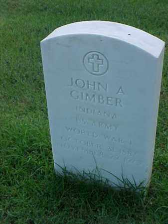 GIMBER (VETERAN WWI), JOHN A - Pulaski County, Arkansas | JOHN A GIMBER (VETERAN WWI) - Arkansas Gravestone Photos