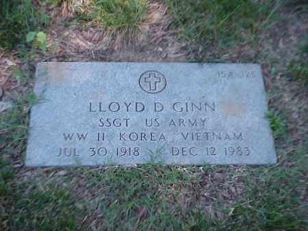 GINN (VETERAN 3 WARS), LLOYD D - Pulaski County, Arkansas | LLOYD D GINN (VETERAN 3 WARS) - Arkansas Gravestone Photos