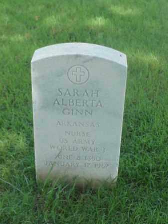GINN (VETERAN WWI), SARAH ALBERTA - Pulaski County, Arkansas | SARAH ALBERTA GINN (VETERAN WWI) - Arkansas Gravestone Photos